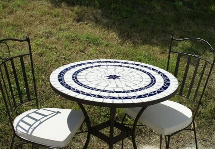 Salon de jardin mosaique bleu - Mailleraye.fr jardin