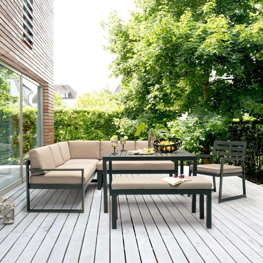 Salon de jardin d\'angle dinatoire - Mailleraye.fr jardin