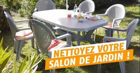 Salon de jardin nettoyage