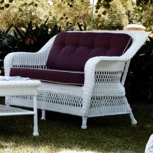 Salon de jardin rotin tressé blanc - Mailleraye.fr jardin