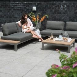 Salon de jardin en teck et alu - Mailleraye.fr jardin