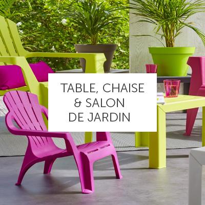 Salon de jardin plastique pliant - Mailleraye.fr jardin