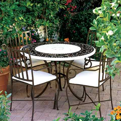 Salon bas de jardin en fer - Mailleraye.fr jardin