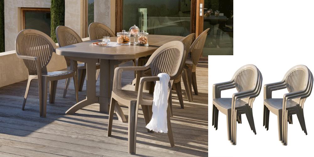 Table de salon de jardin plastique - Mailleraye.fr jardin