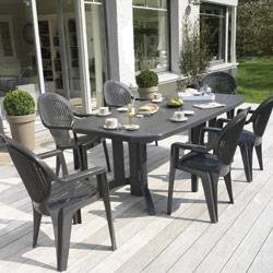 Table de salon de jardin grosfillex