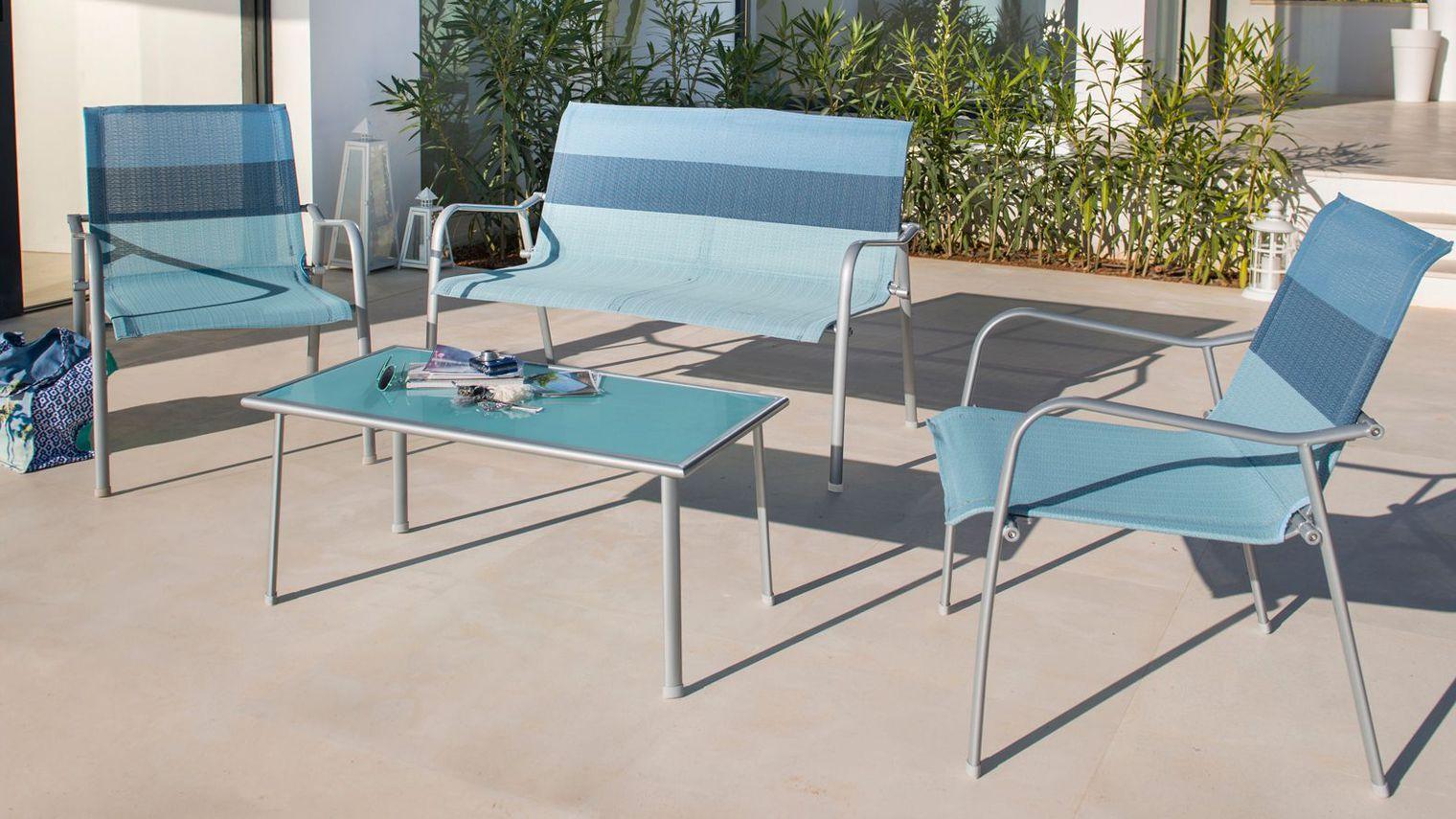 Salon de jardin table en verre pas cher - Mailleraye.fr jardin