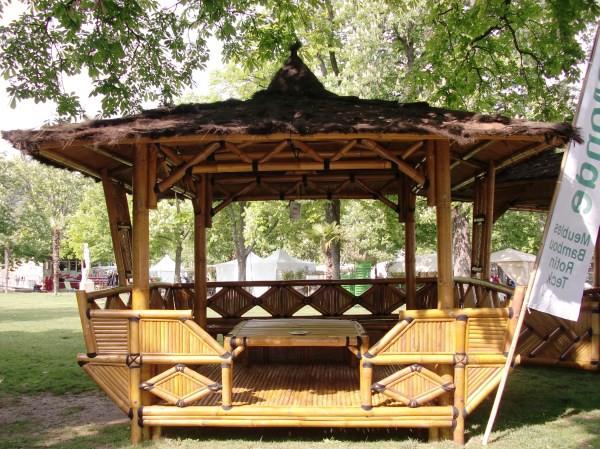 Salon de jardin en gros bambou   Mailleraye.fr jardin