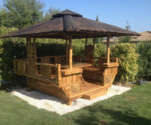 Mobilier de jardin en bambou