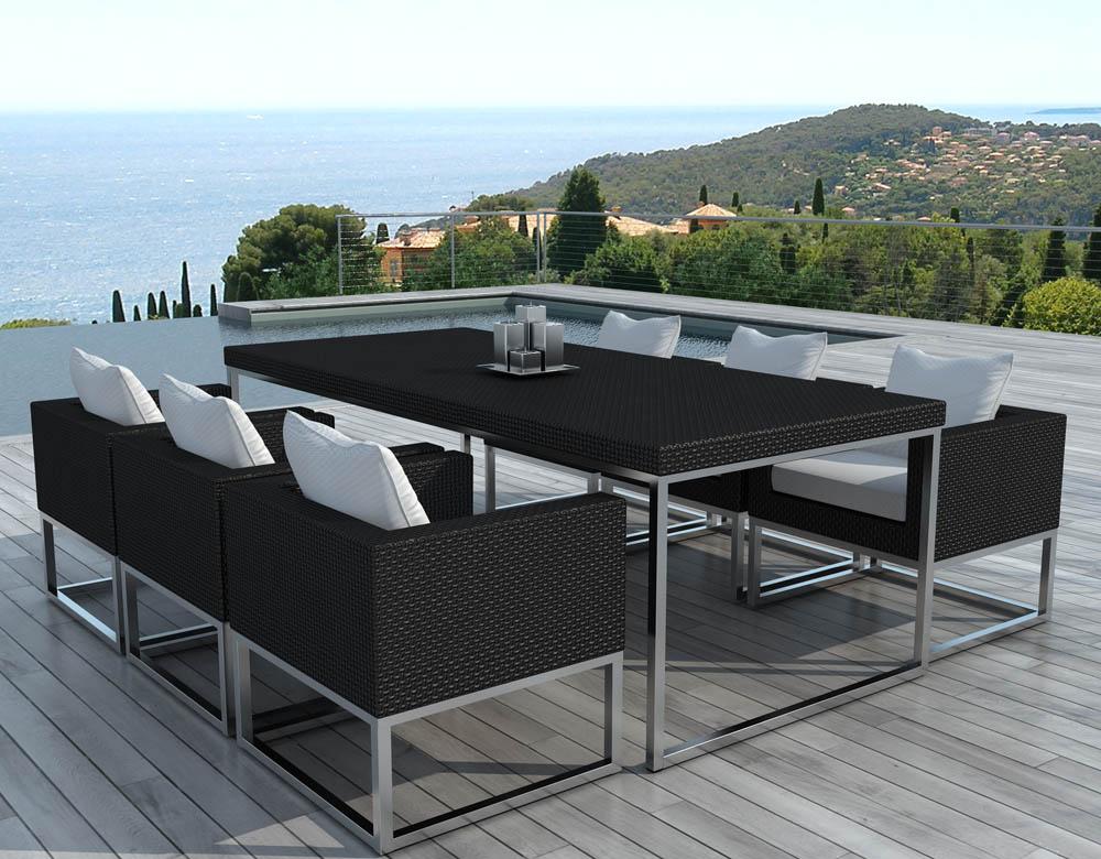 Salon de jardin table et fauteuils - Mailleraye.fr jardin