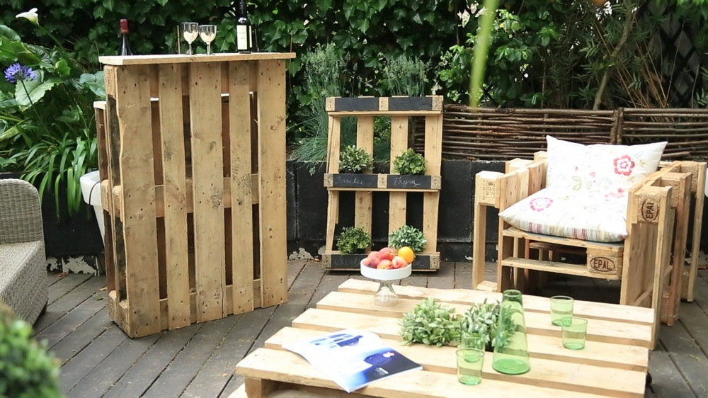 Idee salon de jardin fait maison - Mailleraye.fr jardin