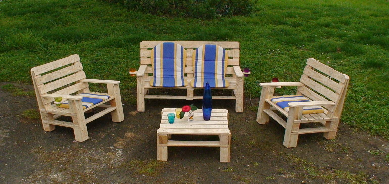 Idee salon de jardin en palette - Mailleraye.fr jardin