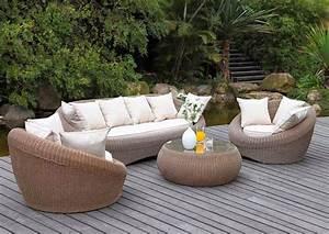 Salon de jardin osier naturel - Mailleraye.fr jardin