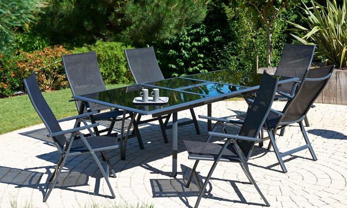 Groupon salon de jardin aluminium - Mailleraye.fr jardin