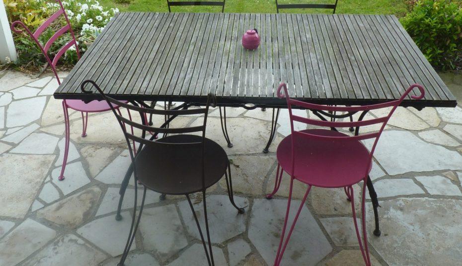 Salon de jardin couleur rouille - Mailleraye.fr jardin