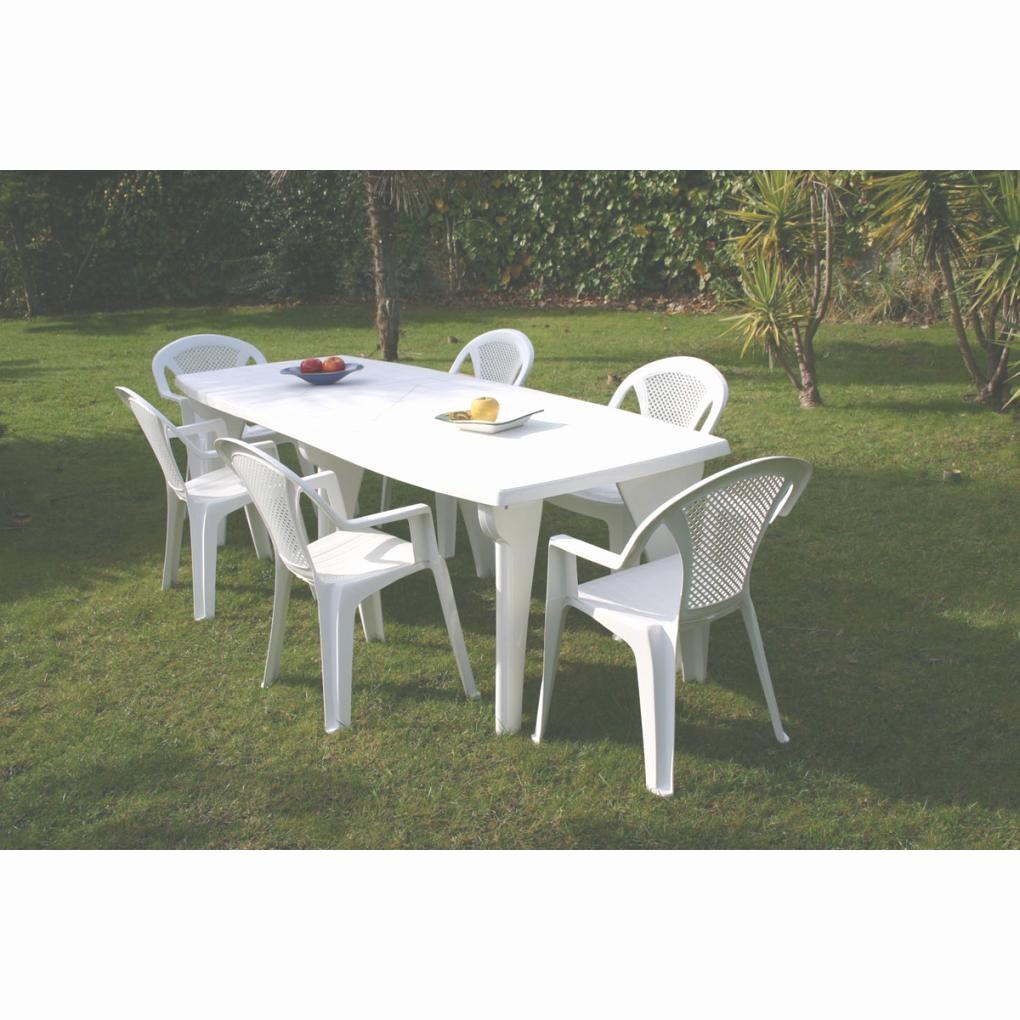 Nettoyer salon de jardin en plastique blanc