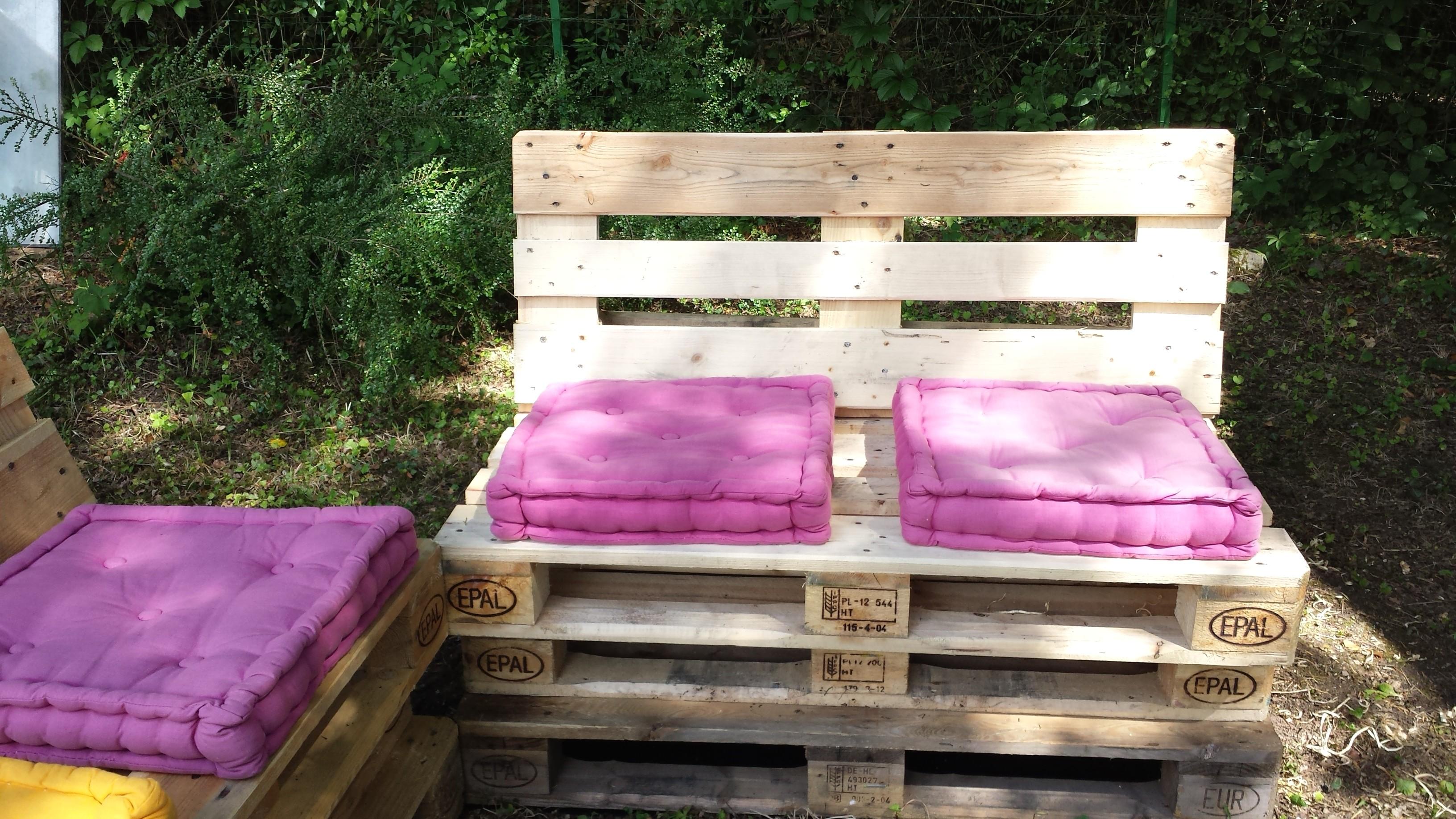 Matelas pour salon de jardin palette - Mailleraye.fr jardin