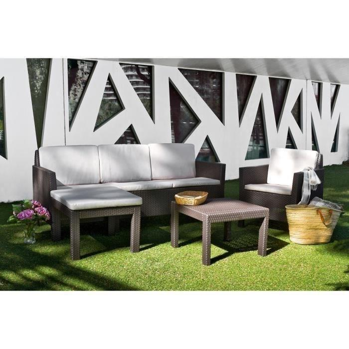 Salon de jardin nevada marron - Mailleraye.fr jardin