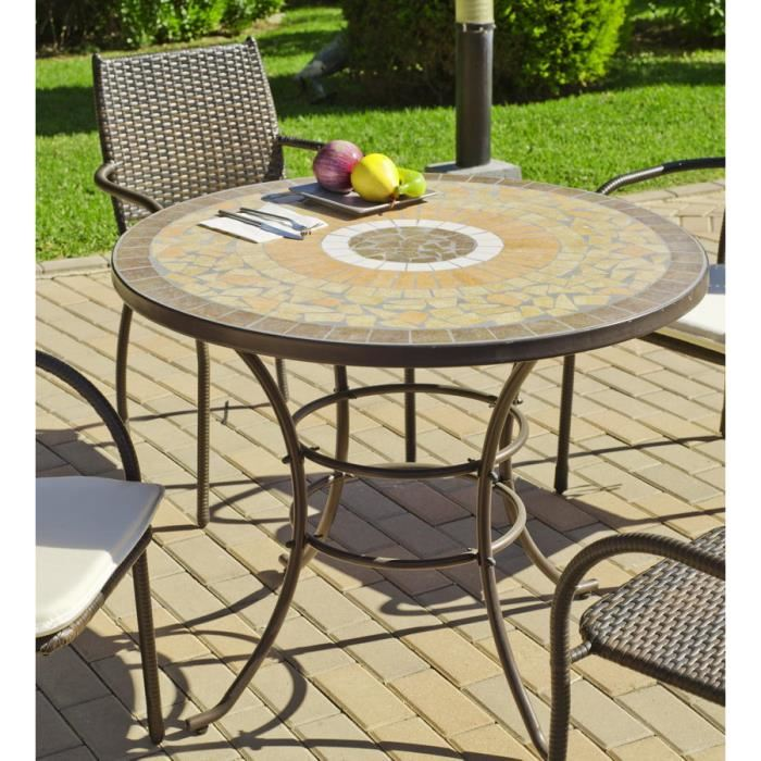 Salon de jardin table mosaique - Mailleraye.fr jardin