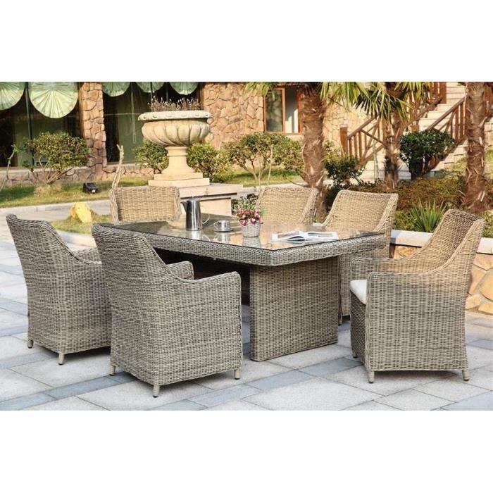 Salon de jardin table ronde en resine - Mailleraye.fr jardin