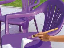 Peindre salon de jardin pvc