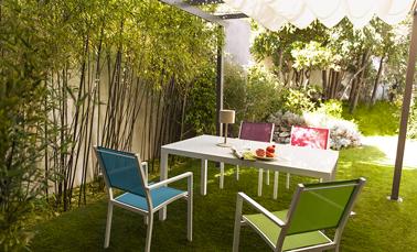 Salon de jardin couleur bleu - Mailleraye.fr jardin