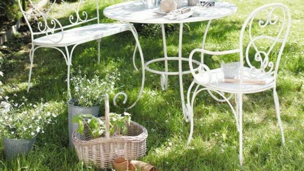 Salon de jardin retro fer forge - Mailleraye.fr jardin