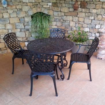 Mobilier de jardin en fer italien - Mailleraye.fr jardin