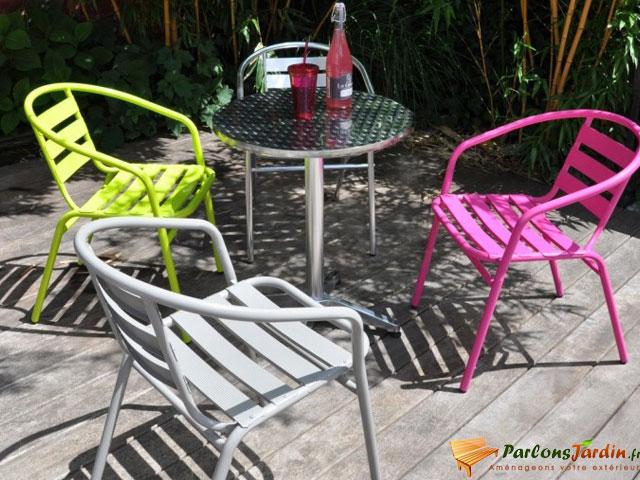 Salon de jardin bistrot aluminium jardin - Salon de jardin bistrot pas cher ...