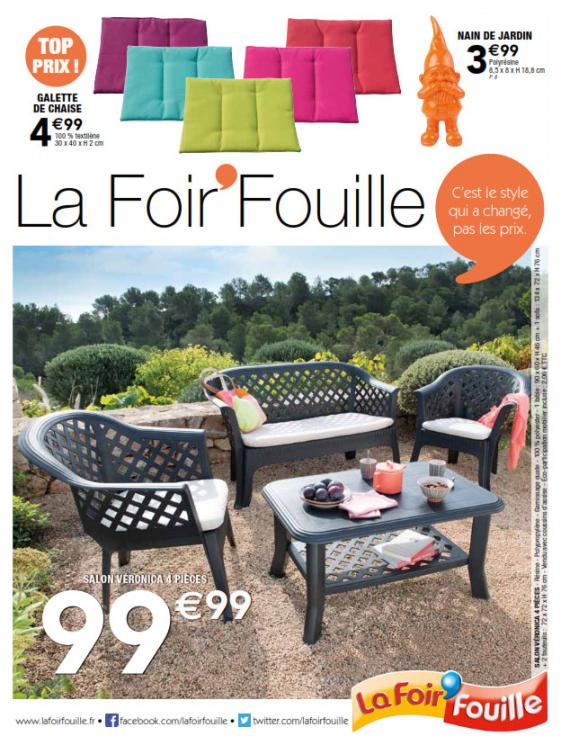 Table salon de jardin foire fouille - Mailleraye.fr jardin