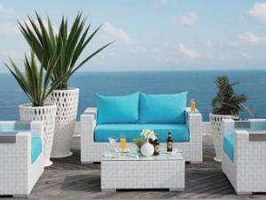Salon de jardin blanc resine tressee - Mailleraye.fr jardin