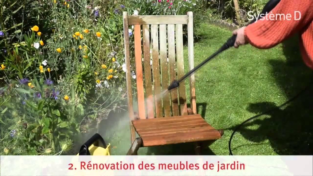 Nettoyer salon de jardin en bois