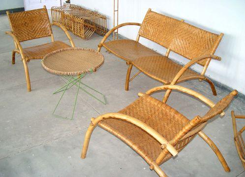 Salon de jardin en bambou - Mailleraye.fr jardin