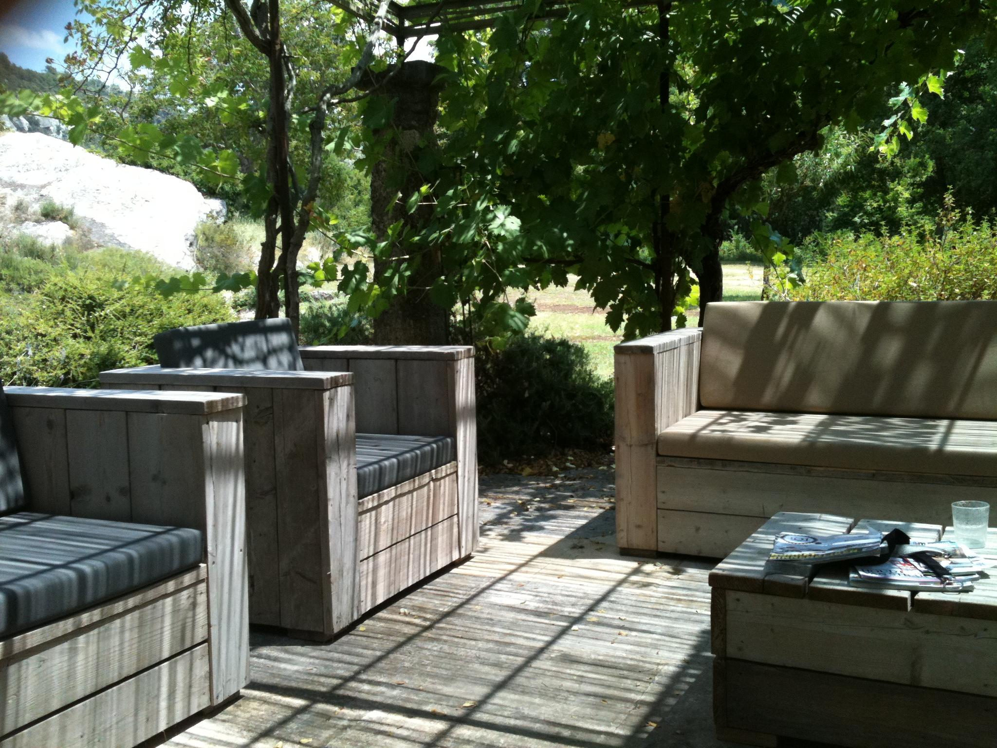 Salon de jardin exterieur en bois - Mailleraye.fr jardin