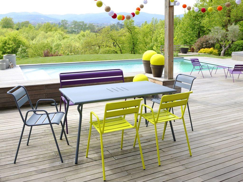 mobilier de jardin style fermob jardin. Black Bedroom Furniture Sets. Home Design Ideas