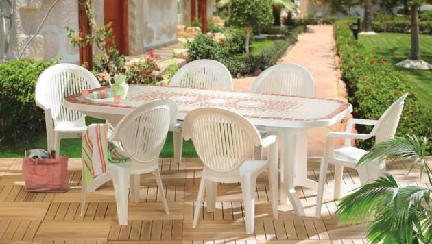 Salon de jardin pvc bleu - Mailleraye.fr jardin