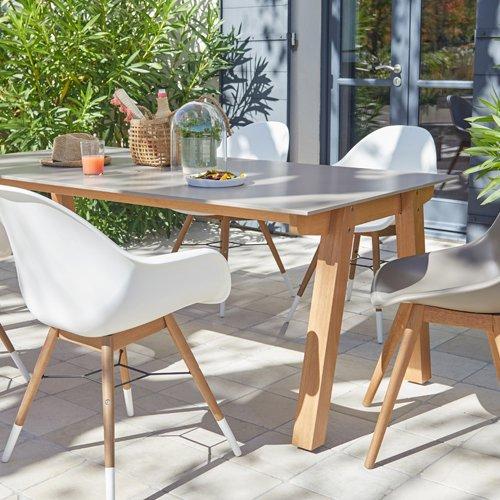 Table de salon de jardin chez leroy merlin