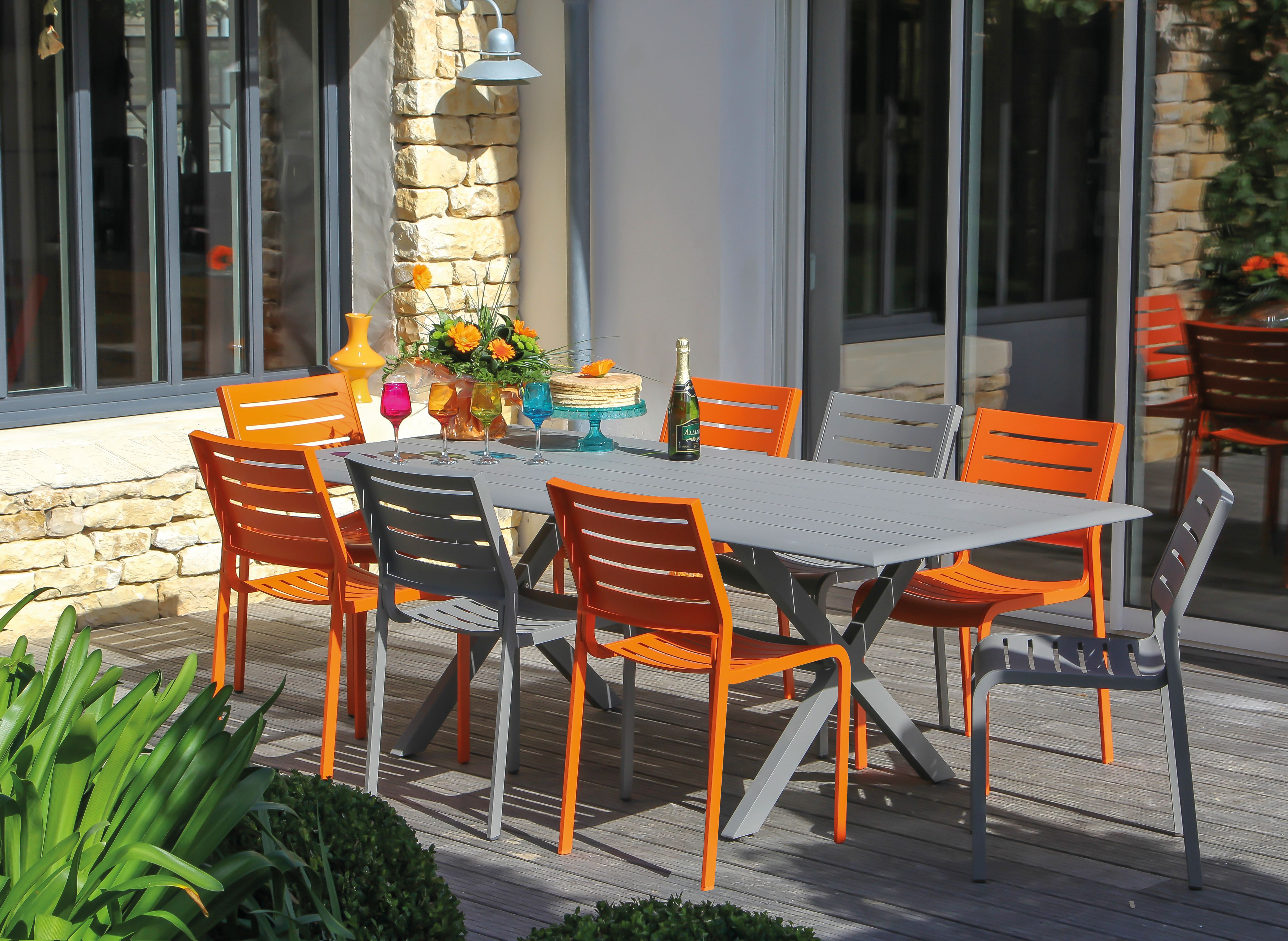 Petit salon de jardin couleur - Mailleraye.fr jardin