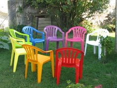 Repeindre le salon de jardin en plastique - Mailleraye.fr jardin