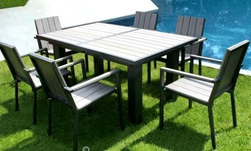 Salon de jardin alu et bois composite pas cher - Mailleraye.fr jardin