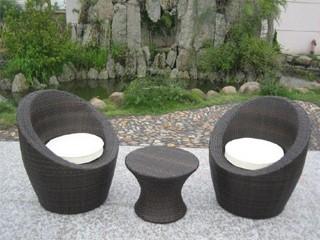 Salon de jardin totem 2 places en résine tressée - chocolat ...