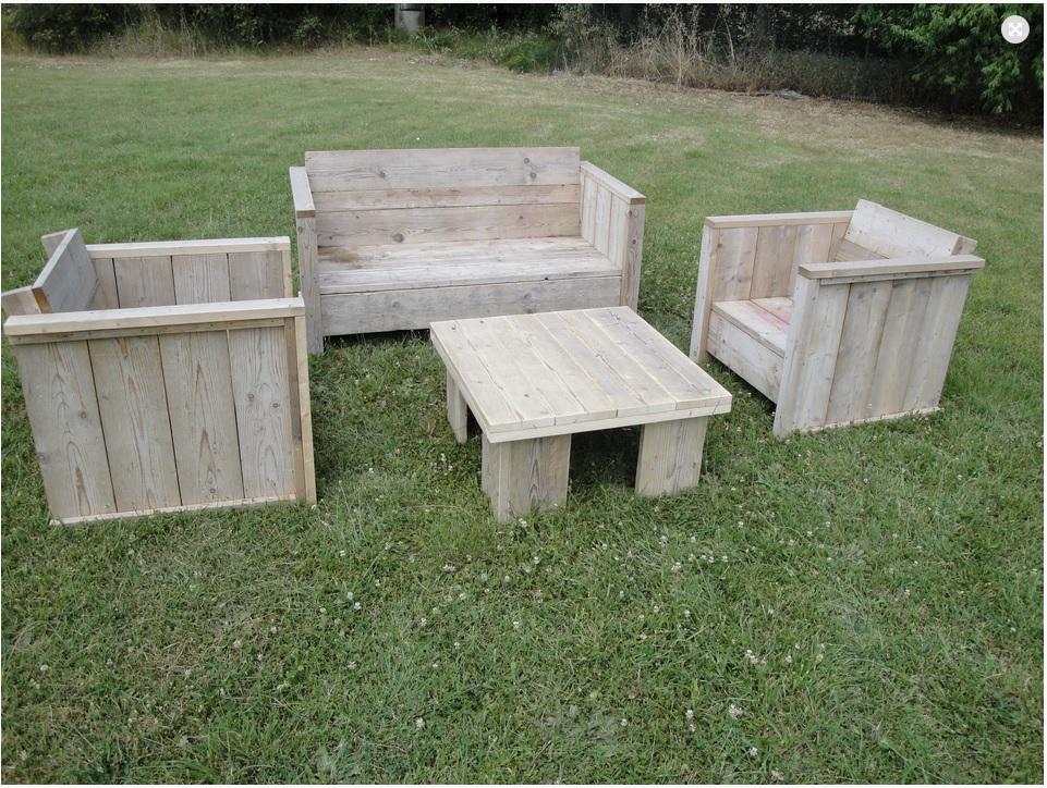 Salon de jardin en bois promo - Mailleraye.fr jardin