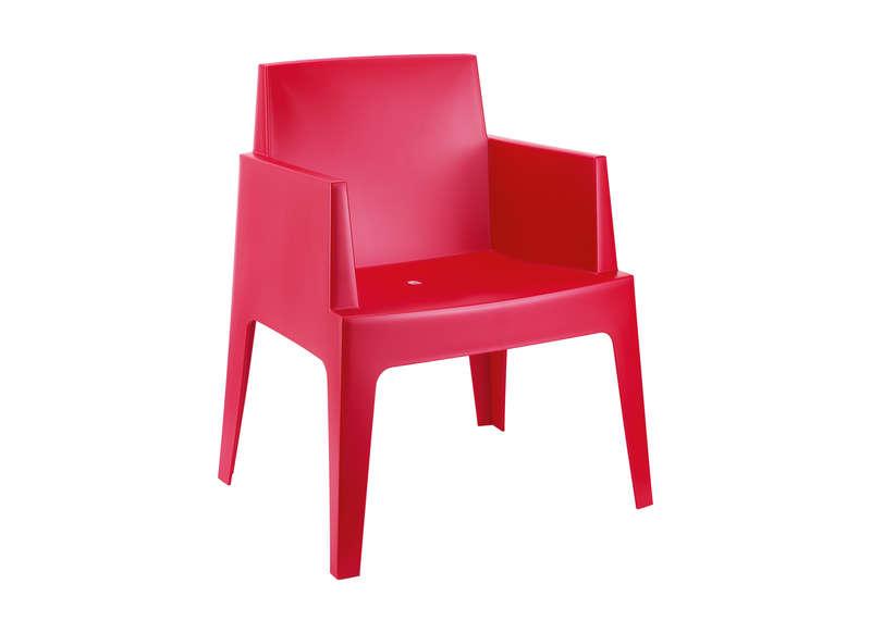 Salon de jardin plastique rouge
