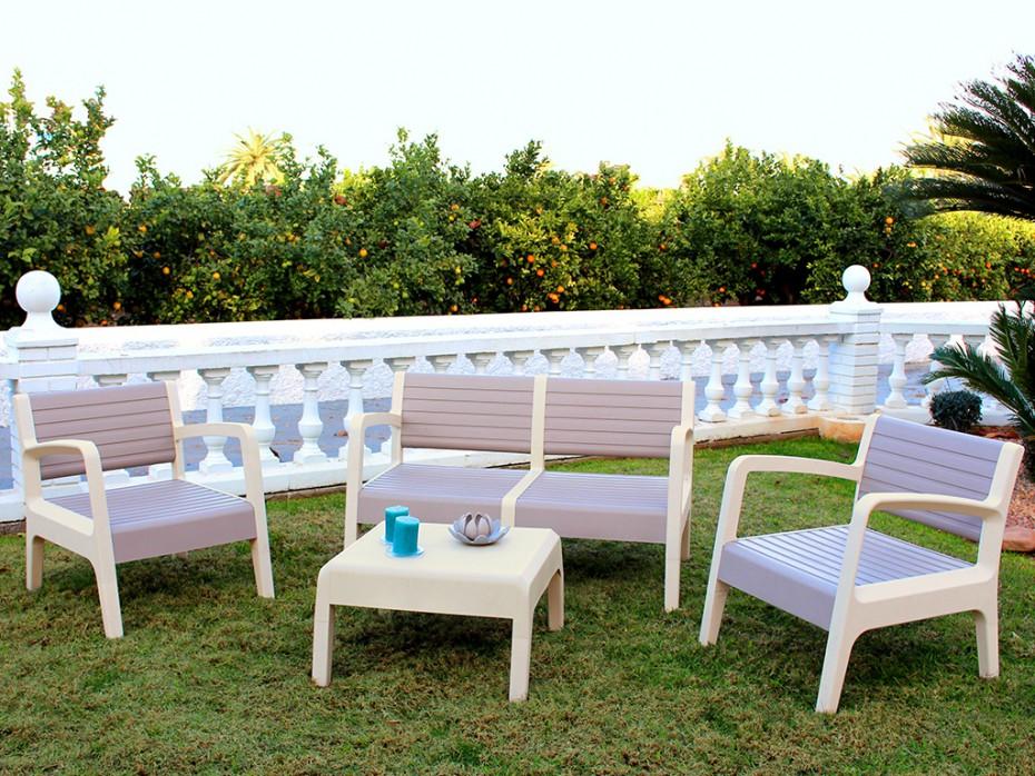 Table salon de jardin en pvc - Mailleraye.fr jardin