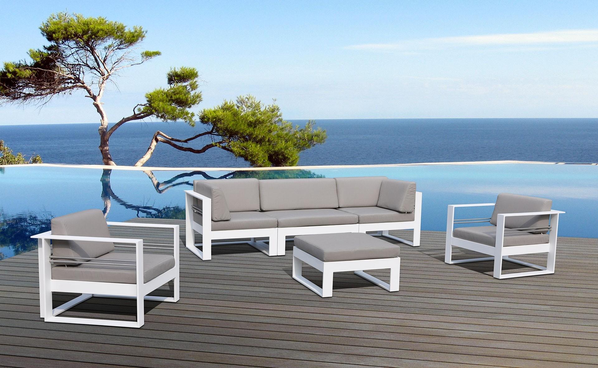 Salon de jardin design en aluminium - Mailleraye.fr jardin