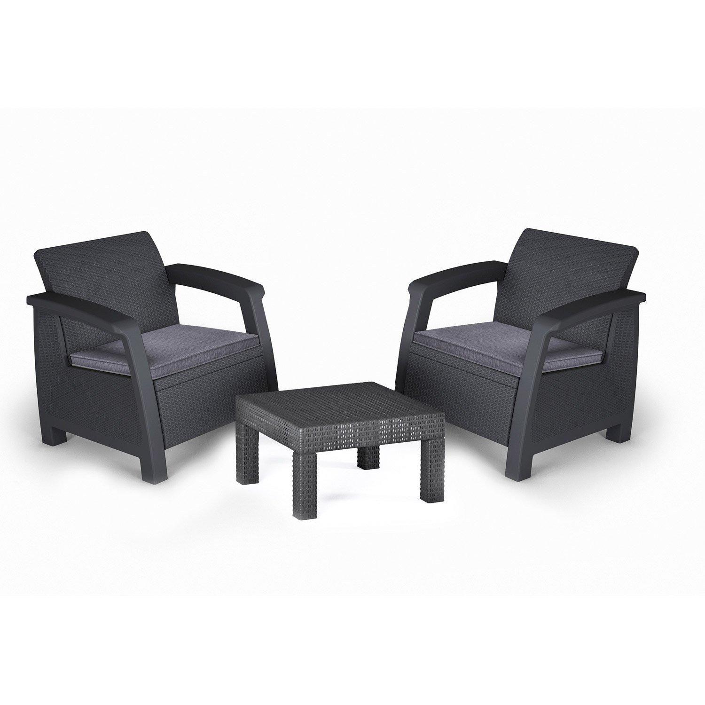 Salon de jardin fauteuil et table - Mailleraye.fr jardin