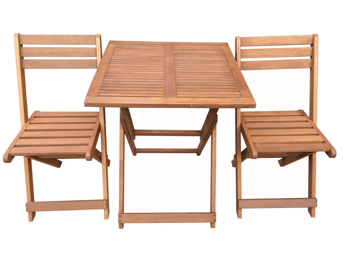 Salon de jardin pliable en bois pas cher - Mailleraye.fr jardin