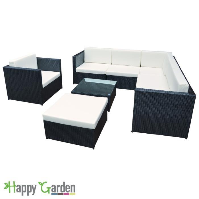 Salon de jardin goa noir - Mailleraye.fr jardin