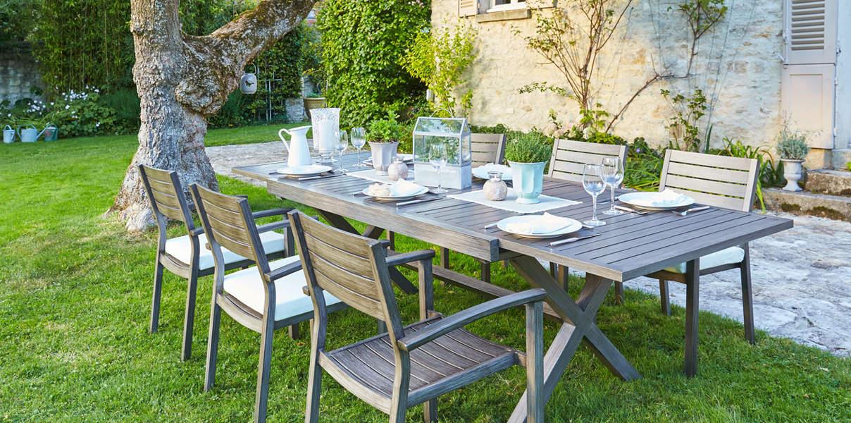 Salon de jardin gris carrefour - Mailleraye.fr jardin