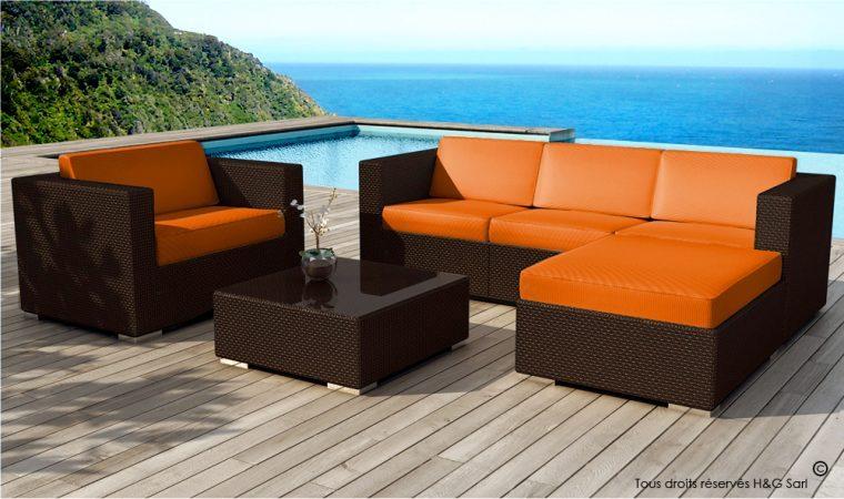 Salon de jardin en resine couleur marron - Mailleraye.fr jardin