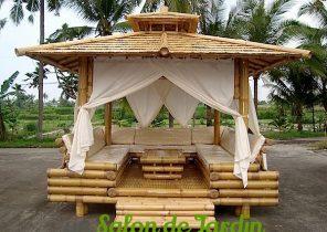 Salon de jardin en bambou pas cher